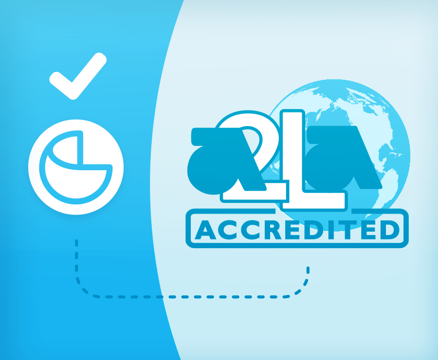 We're Now Accredited by A2LA!