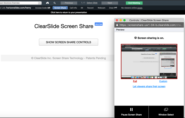 screen share