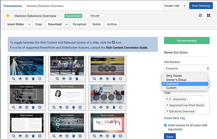 sales content library