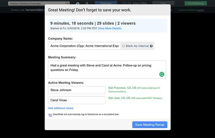 Meeting Recap Analytics