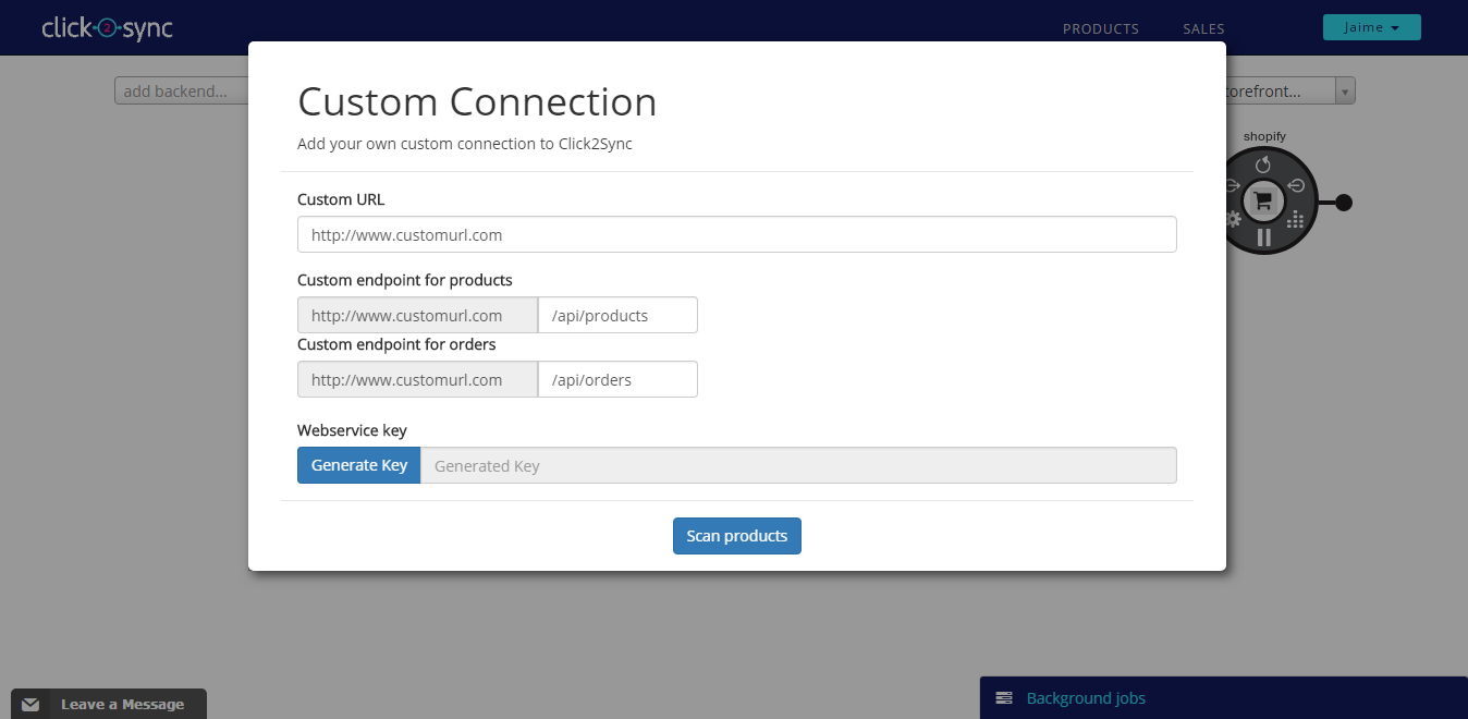 New Shopify connection Step 2