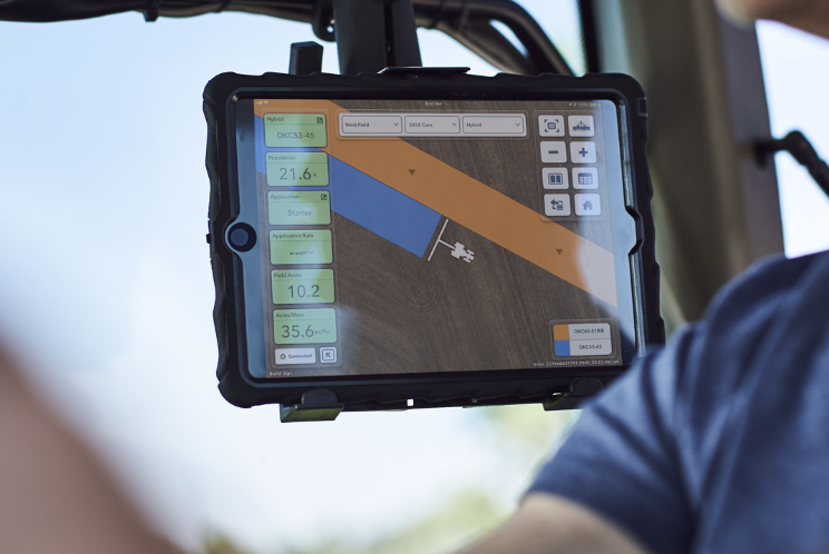 FieldView helps planting be more efficient by allowing you to visualize planting data in real time.