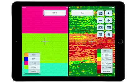 Climate FieldView Cab Split Screen