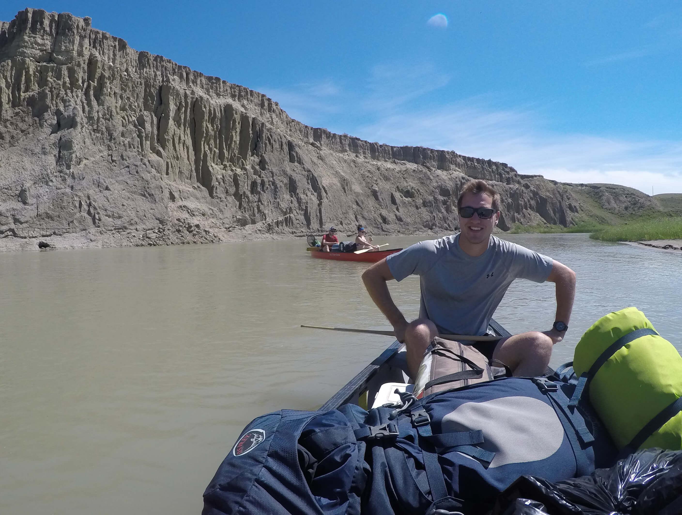 Mat Vercaigne on a kayak