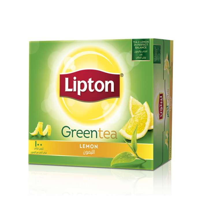 LIPTON GREEN TEA LEMON 100 TEA BAGS,2.58