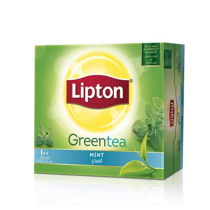 LIPTON GREEN TEA MINT 100 TEA BAGS,2.58