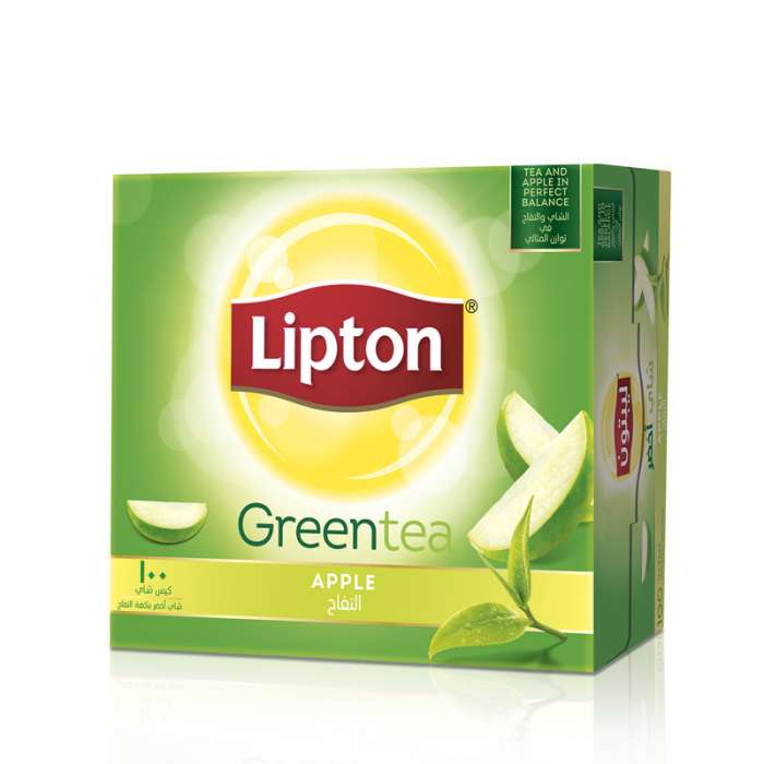 LIPTON GREEN TEA APPLE 100 TEA BAGS.,2.67