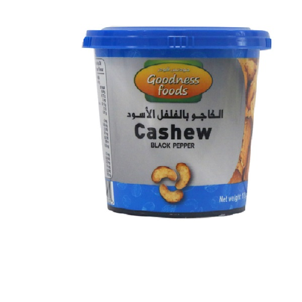 GOODNESS FOODS CASHEW BLACK PEPPER JAR 175gm,1.00