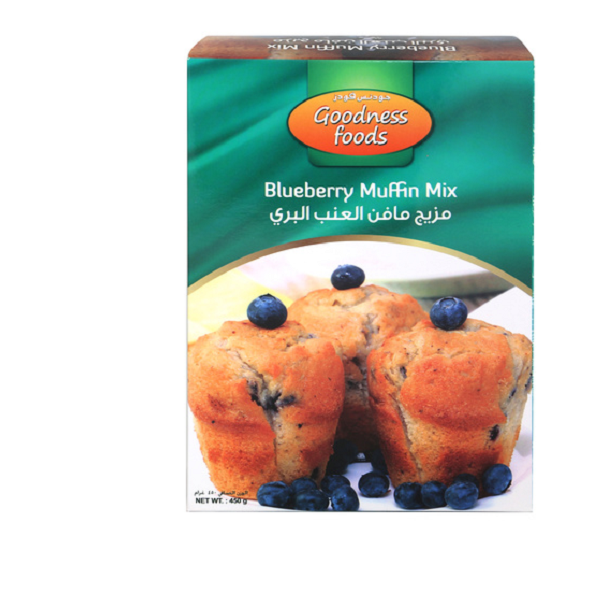 GOODNESS FOOD BLUEBERRY MUFFIN MIX (CB) 450gm,1.00