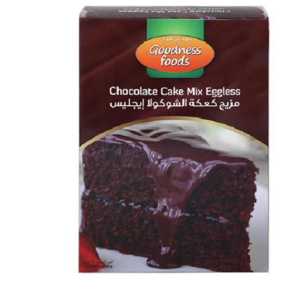 GOODNESS FOOD CHOCOLATE CAKE MIX EGGLESS 350gm,1.00