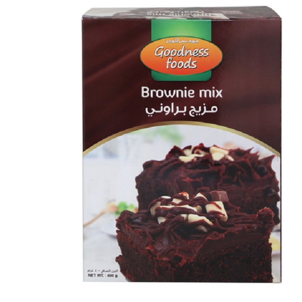GOODNESS FOODS BROWNIE MIX (CB) 400GMS,1.00