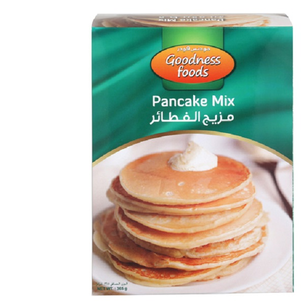 GOODNESS FOODS PANCAKE MIX (CB) 365GMS,1.00