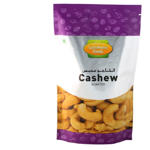 GOODNESS FOODS CASHEW ROASTED N SALTED SP 175GM,1.00