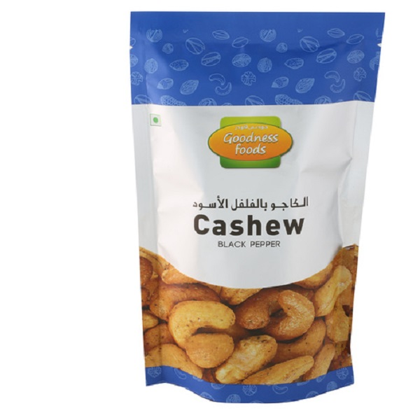 GOODNESS FOODS CASHEW BLACK PEPPER SP 175GM,1.00