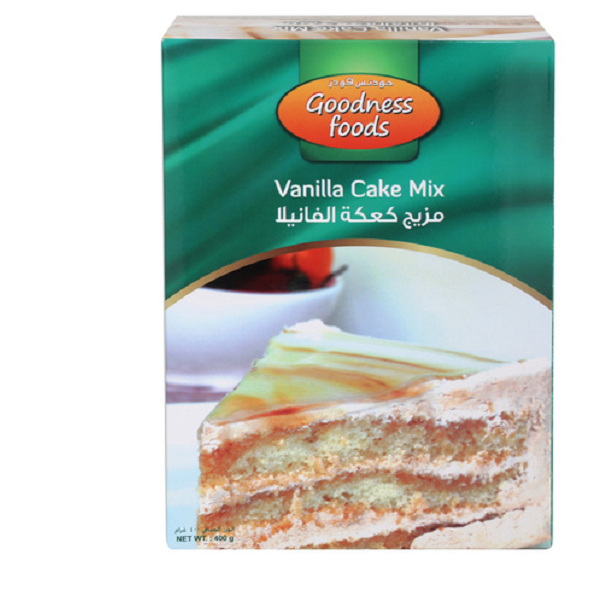 GOODNESS FOOD VANILLA CAKE MIX (CB) 400GMS,1.00