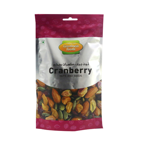 GOODNESS FOODS CRANBERRY, NUTS & SEEDS SP 200GM,1.00