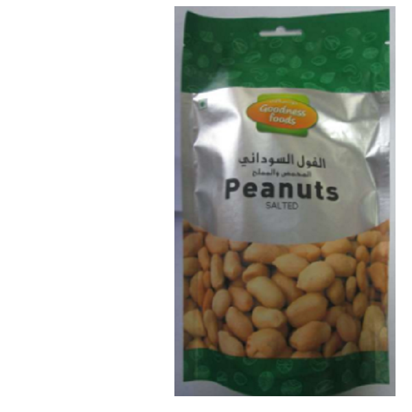 GOODNESS FOODS PEANUTS ROASTED N SALTED SP 200GM,1.00