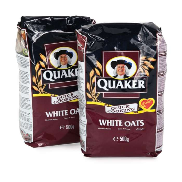 QUAKER OATS TWIN FOIL BAGS 2x500 GM,1.00