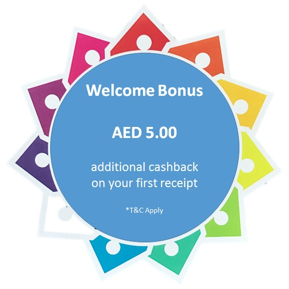 Starting Bonus - AED 5 when you scan your first receipt with valid coupons.,5.00