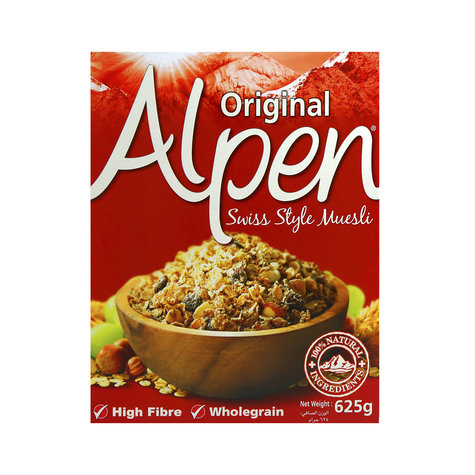 ALPEN MUSELI BREAKFAST CEREAL 625 GM.,5.75