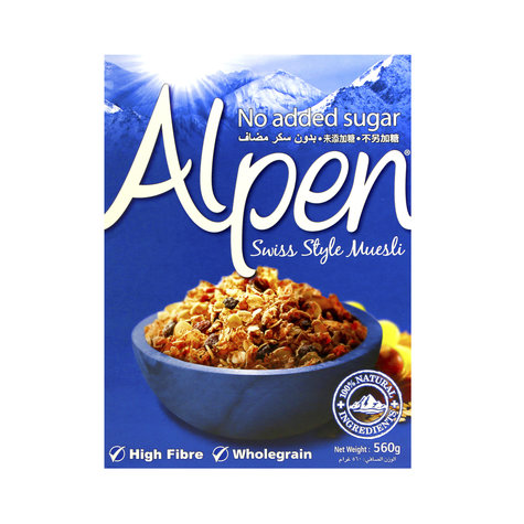ALPEN MUESLI NO ADDED SUGAR 560 GMS,5.75
