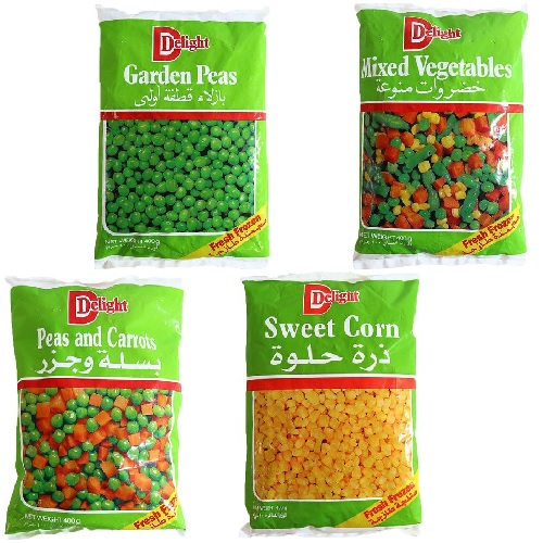 DELIGHT FROZEN VEG - 400 gms ASSORTED,2.00