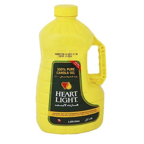 HEART LIGHT CANOLA OIL 1.89 L,8.50