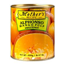 MOTHER RECIPE ALPHONSO MANGO PULP 850 GMS,4.00