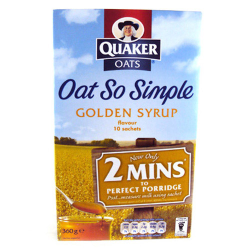 QUAKER OATS SO SIMPLE GOLDEN SYRUP 360G,4.50