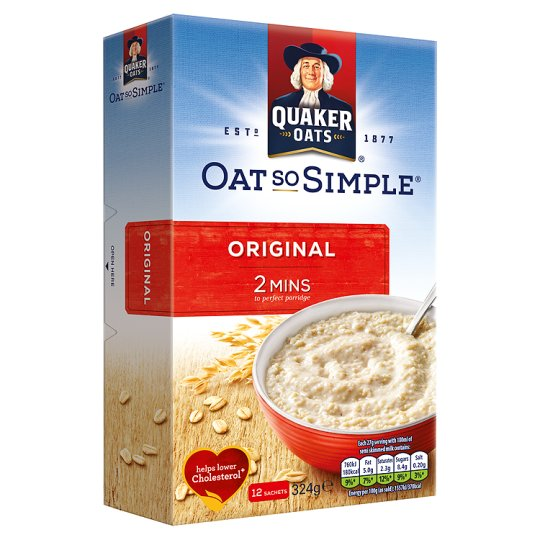 QUAKER OATS SO SIMPLE ORGINAL 324GMS,3.75