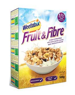 WEETABIX FRUIT & FIBERS 500 GMS.,6.00