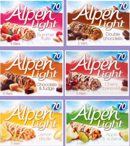 Alpen Light Cereal Bars (5X19)gms - All Flavors,3.75