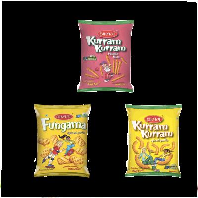 BIKAJI FUNGAMA & KURRAM KURRAM 40 GMS,0.50