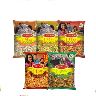 BIKAJI LITE NAMKEEN 100G - All varieties,1.25