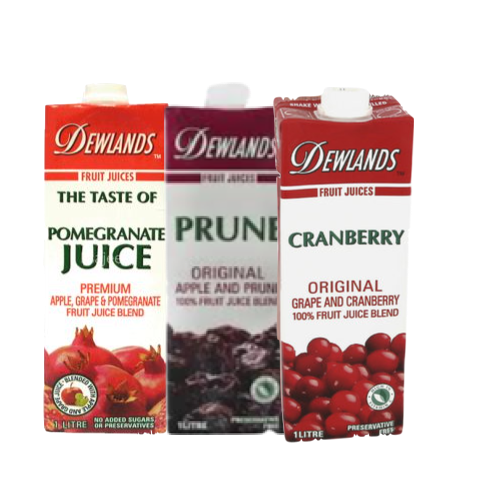 DEWLANDS JUICE 1L - CRANBERRY, POMEGRANATE, PRUNE,3.00