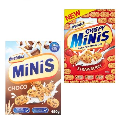 WEETABIX MINIS & MINIBIX 450g - All Flavours.,5.00