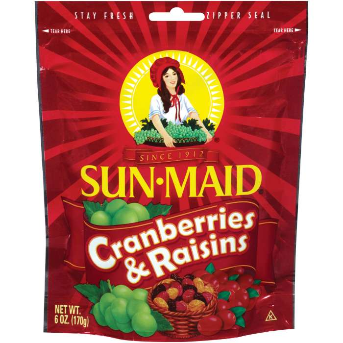 SUNMAID BAG CRANBERRY&RAISINS 6 OZ,4.75