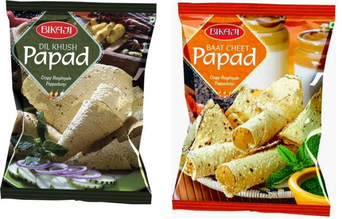 Bikaji Papad-all types 200 gms,1.25