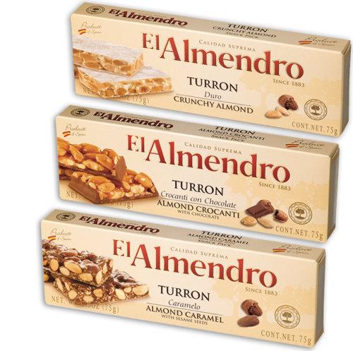 EL-ALMENDRO TURRON 75g - Almond, Caramel, Chocolate,3.00