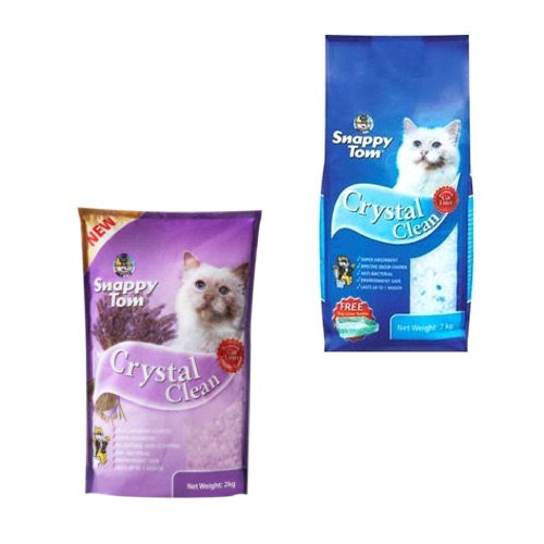 SNAPPY TOM CRYSTAL CLEAN CAT LITTER 2KG - Normal & Lavender,9.00