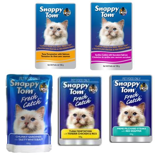 SNAPPY TOM CAT FOOD 100G - All varieties,1.00