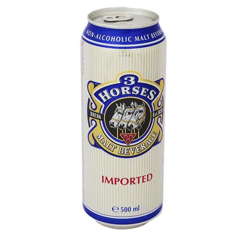 3 HORSES MALT BEVERAGE CAN 500ML,1.00