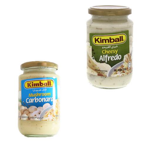Kimball Pasta Sauce 350g - Mushroom Carbonara, Cheesy Alfredo,1.00