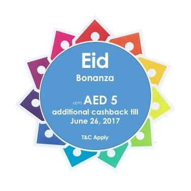 Eid Bonanza - Additional cashback of upto AED 5,1.00
