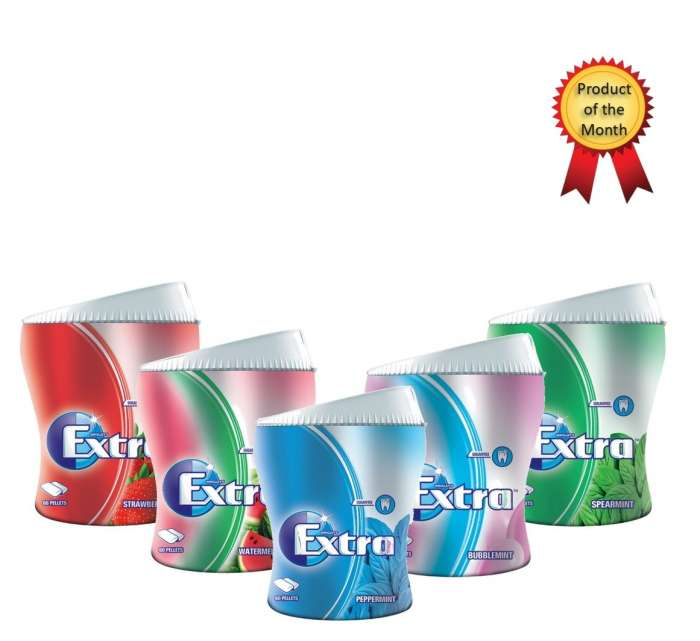 Extra Chewing Gum 60 Pellets Bottle - All Flavours,2.00