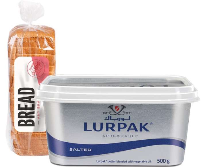 Lurpak Spreadable Butter 500 Gms & Get a Sliced Bread Free,3.00