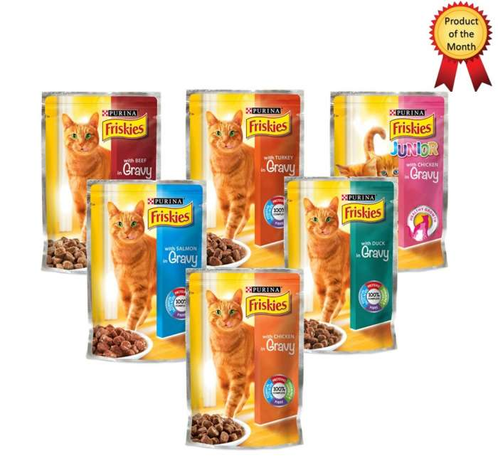 Friskies Cat Food Single Serve Pouch - 100g,0.60