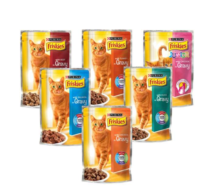 Friskies Cat Food Single Serve Pouch - 100g,0.60