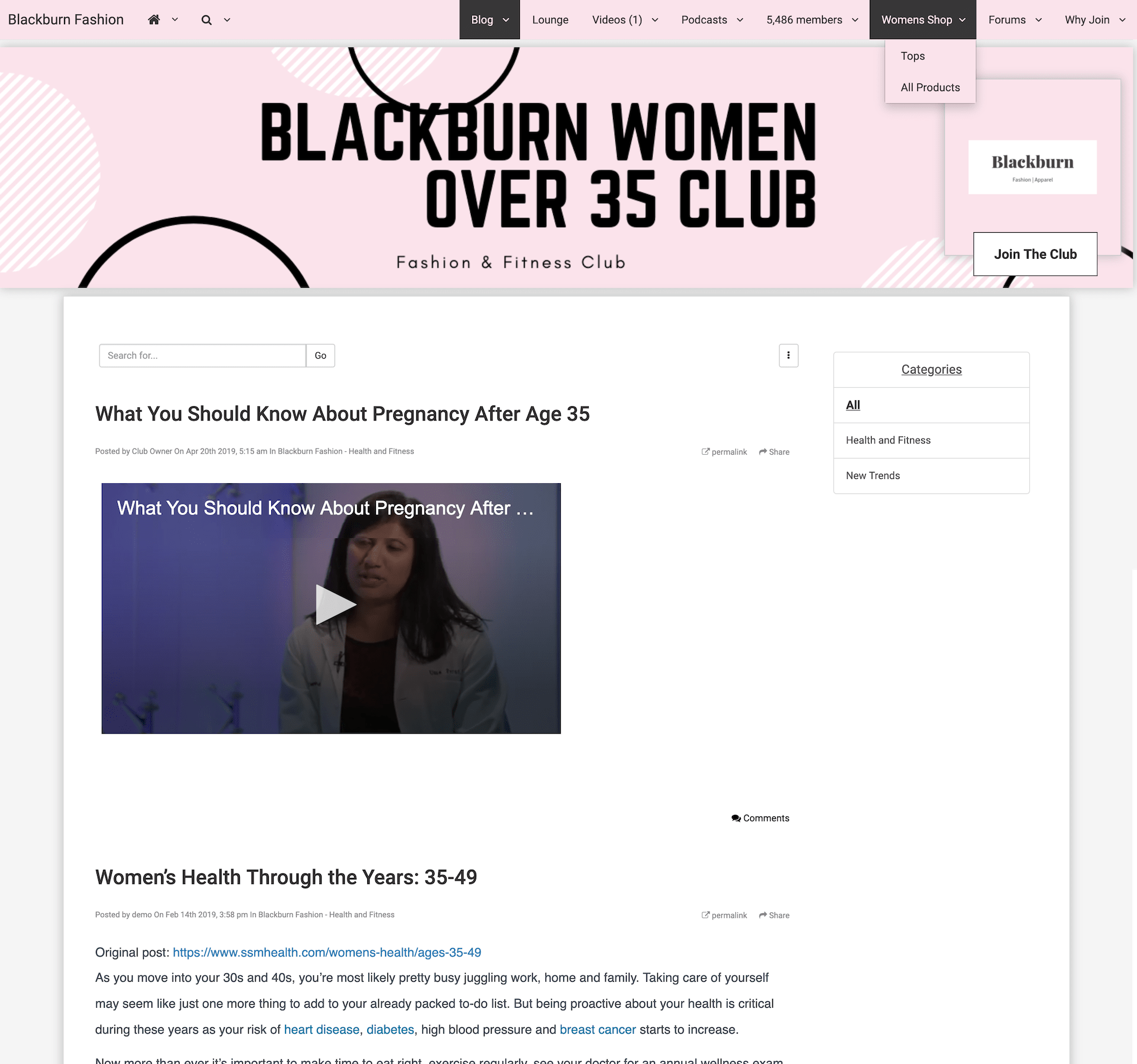 Blackburn Women Over 35 Fashion Club Blog