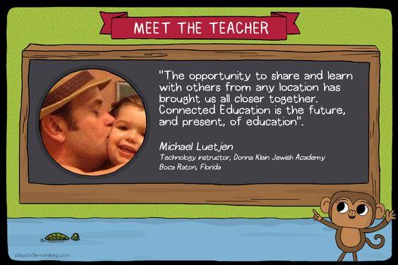 meet the teacher Michael Luetjen